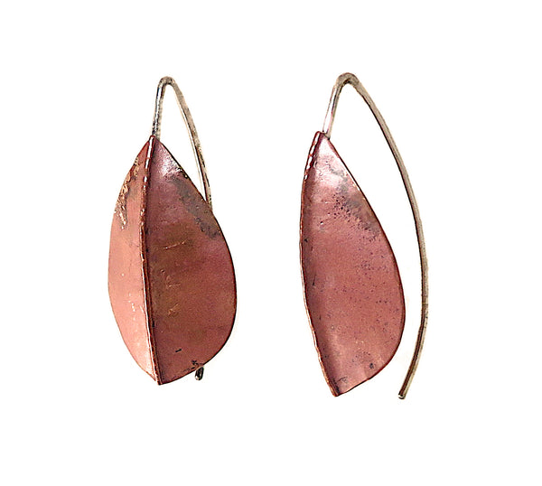Copper Beech Foldform Earrings
