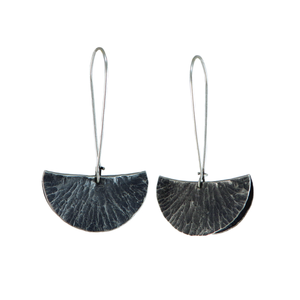Silver Segment Foldform Earrings