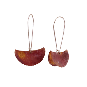 Copper Segment Foldform Earrings