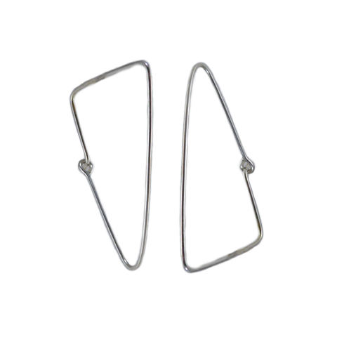 Triangle Wire Hoop Earrings