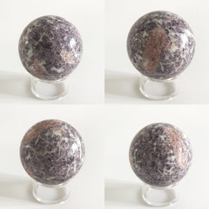 Beautiful Lavender Lepidolite Sphere from Brazil