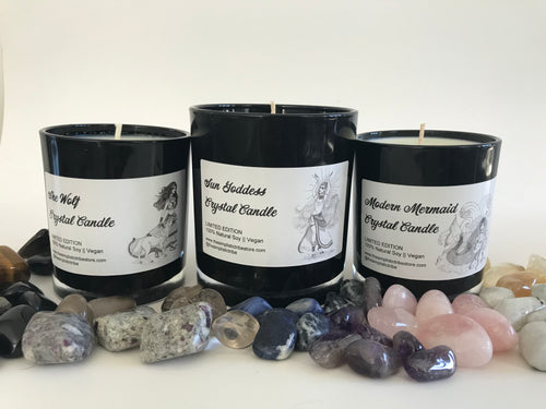 Crystal Candle Collection || SURPRISE CRYSTAL