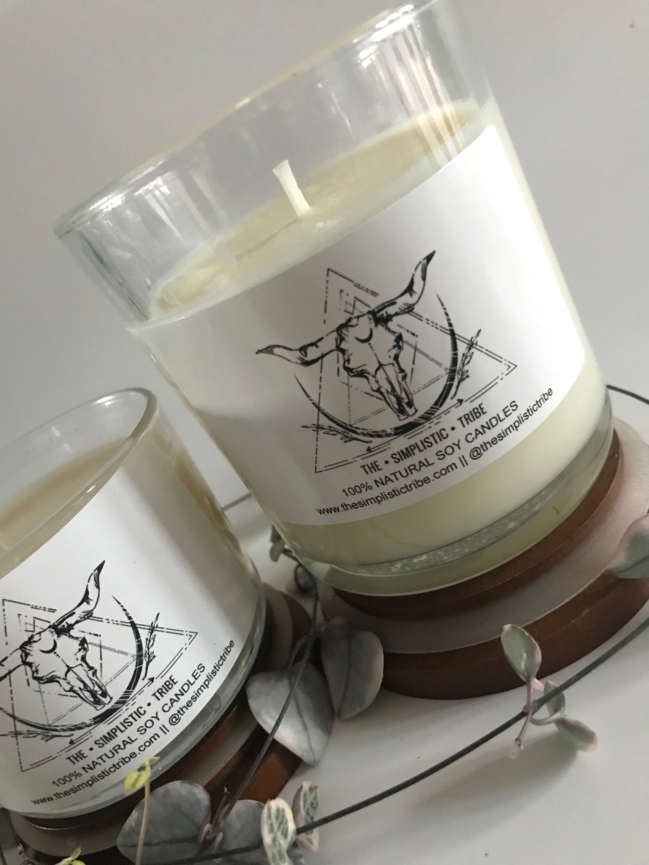 NATURAL SOY CANDLE || HANDMADE