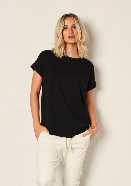 The Staple Relaxed Tee - Black