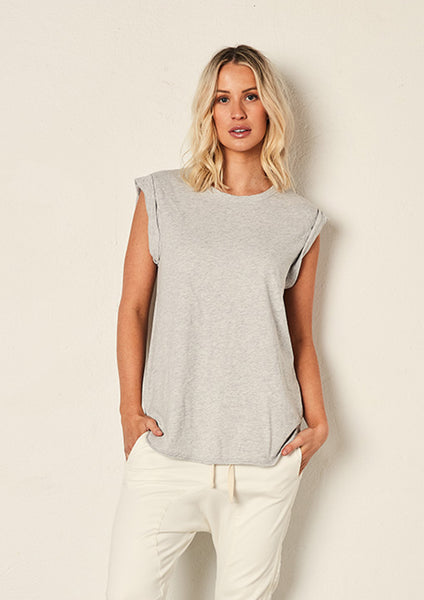 The Staple Muscle Tank - Ash Marle