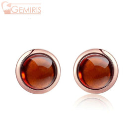 Capricor 100% Simple Natural Garnet Earrings - Earring - $79.99
