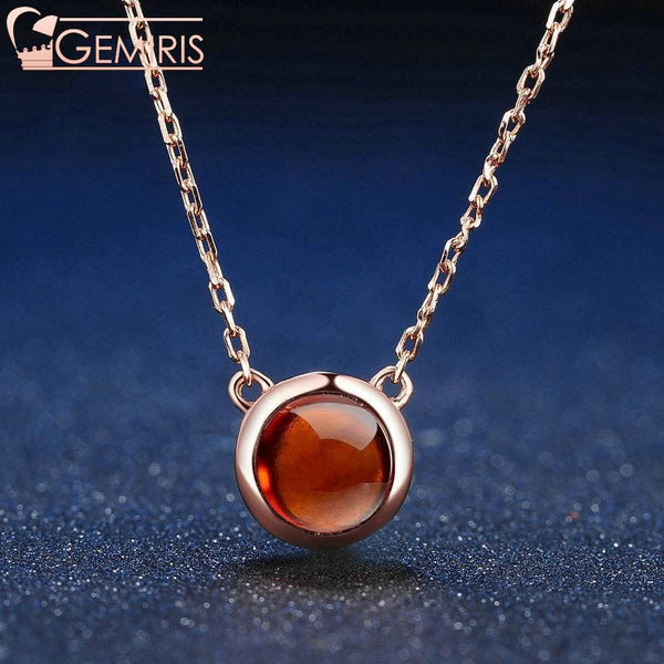 Capricor 100% Simple Natural Garnet Pendant - Necklace - $44.99