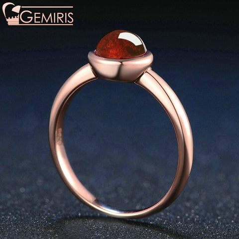 Capricor 100% Simple Natural Garnet Ring - Ring - $51.99