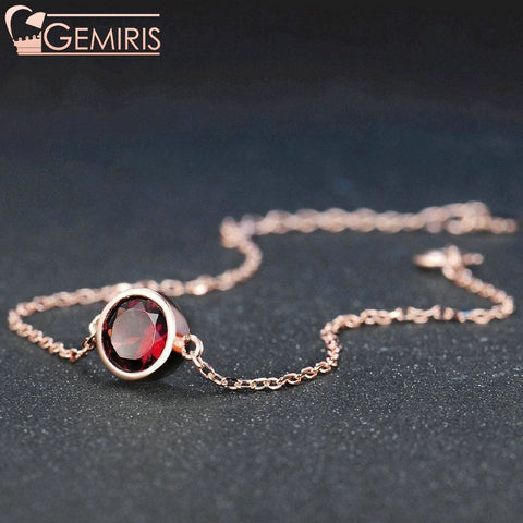 Cetus 100% Natural Deep Red Garnet Bracelet - Bracelet - $39.99