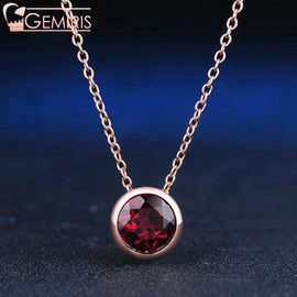 Cetus 100% Natural Deep Red Garnet Pendant - Necklace - $48.99