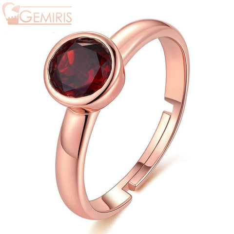 Cetus 100% Natural Deep Red Garnet Ring - Ring - $39.99