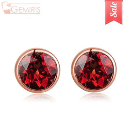 Cetus 100% Naturaldeep Red Garnet Earrings - Earring - $26.99
