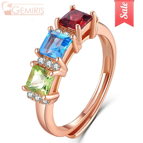 Chara 100% Natural Multi-Gem Ring - Ring - $43.99