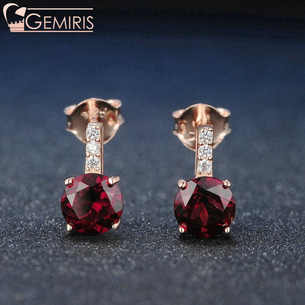 Corona 100% Natural Diamond Garnet Earrings - Earring - $39.99