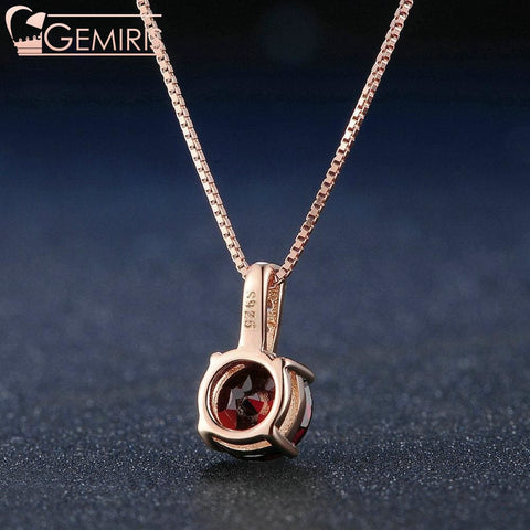 Corona 100% Natural Garnet Pendant - Necklace - $48.99