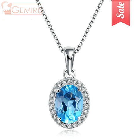 Diadem 100% Natural Topaz Sky Pendant - Necklace - $47.99