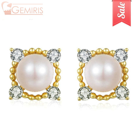 Felis 100% Natural Freshwater Pearl Earrings - Earring - $29.99