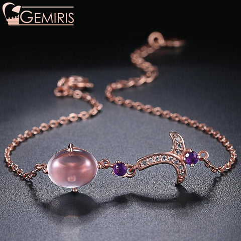 Indus Rose Quartz And Garnet Flower Bracelet - Bracelet - $58.99