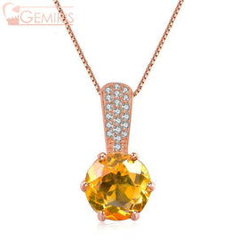 Kaus 100% Natural Citrine Crystal Pendant - Necklace - $64.99