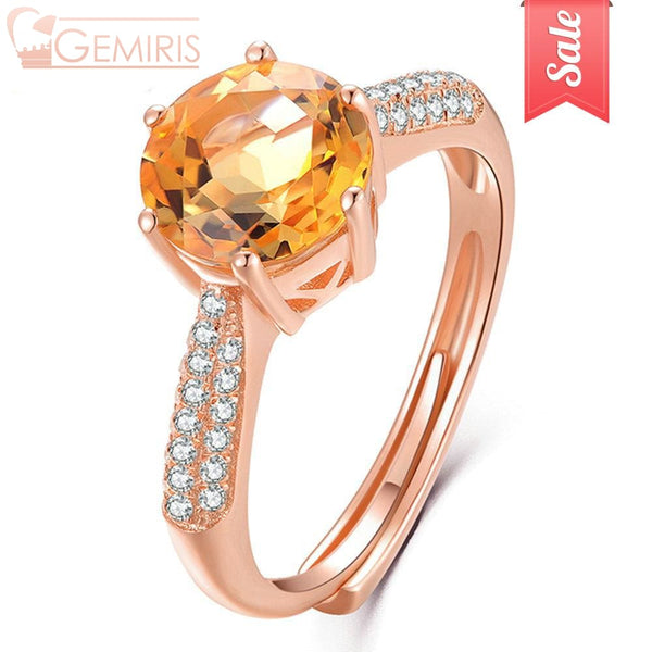 Kaus 100% Natural Citrine Crystal Ring - Ring - $34.99