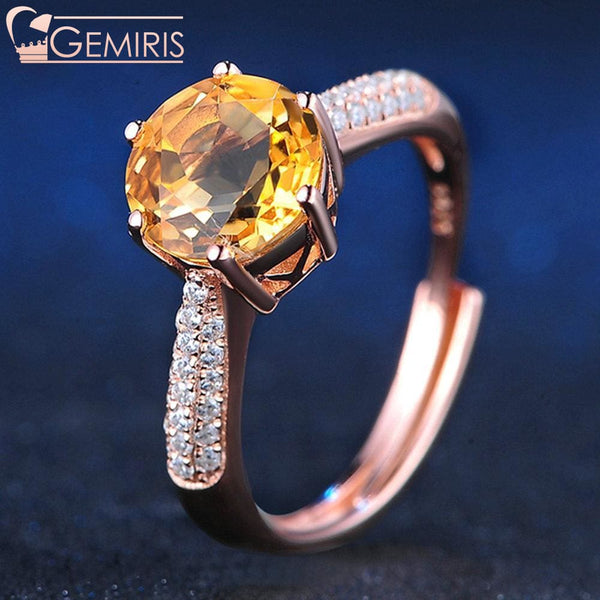 Kaus 100% Natural Citrine Crystal Ring - Ring - $44.99