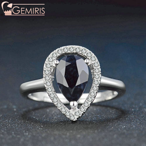 Keid 100% Natural Sapphire Double Teardrop Ring - Ring - $62.99