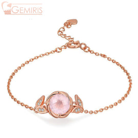 Lyra 100% Natural Rose Quartz Blooming Bracelet - Bracelet - $72.99