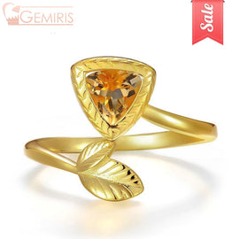 Maia Triangle Citrine Triangle Cut Ring - Ring - $45.99