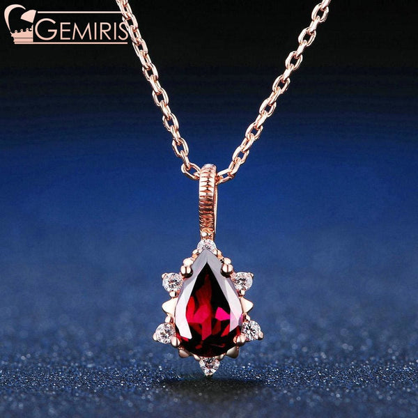 Mensae 100% Natural Garnet Queens Pendant - Necklace - $39.99
