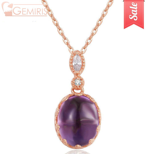 Nashira 100% Natural Purple Amethyst Pendant - Necklace - $67.99