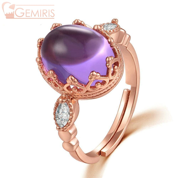 Nashira 100% Natural Purple Amethyst Ring - Ring - $69.99