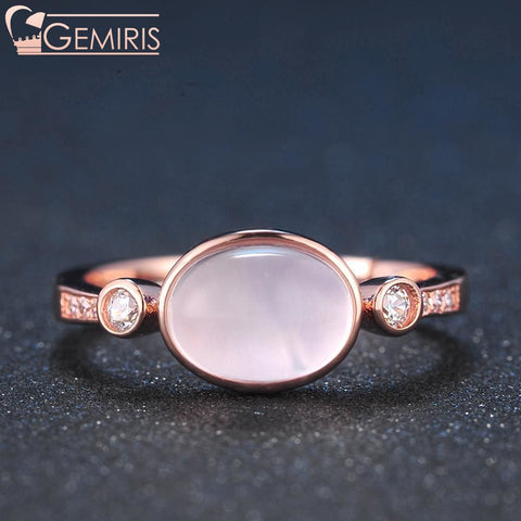 Orion 100% Natural Rose Quartz Oval Ring - Ring - $44.99