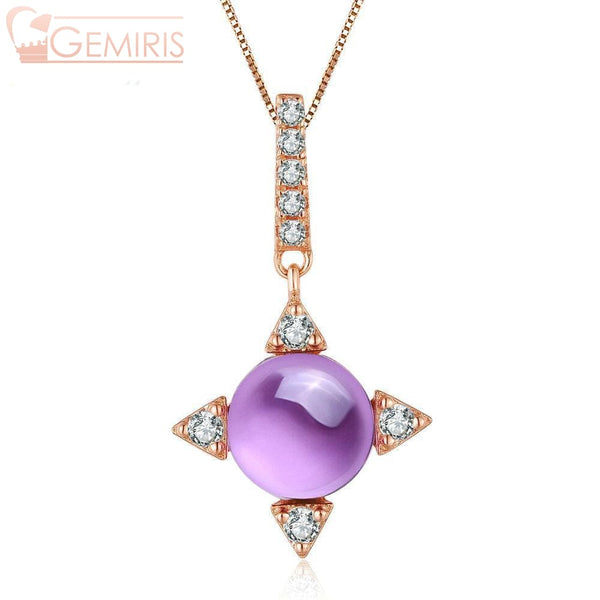 Propus Natural Amethyst Star Pendant - Necklace - $54.99