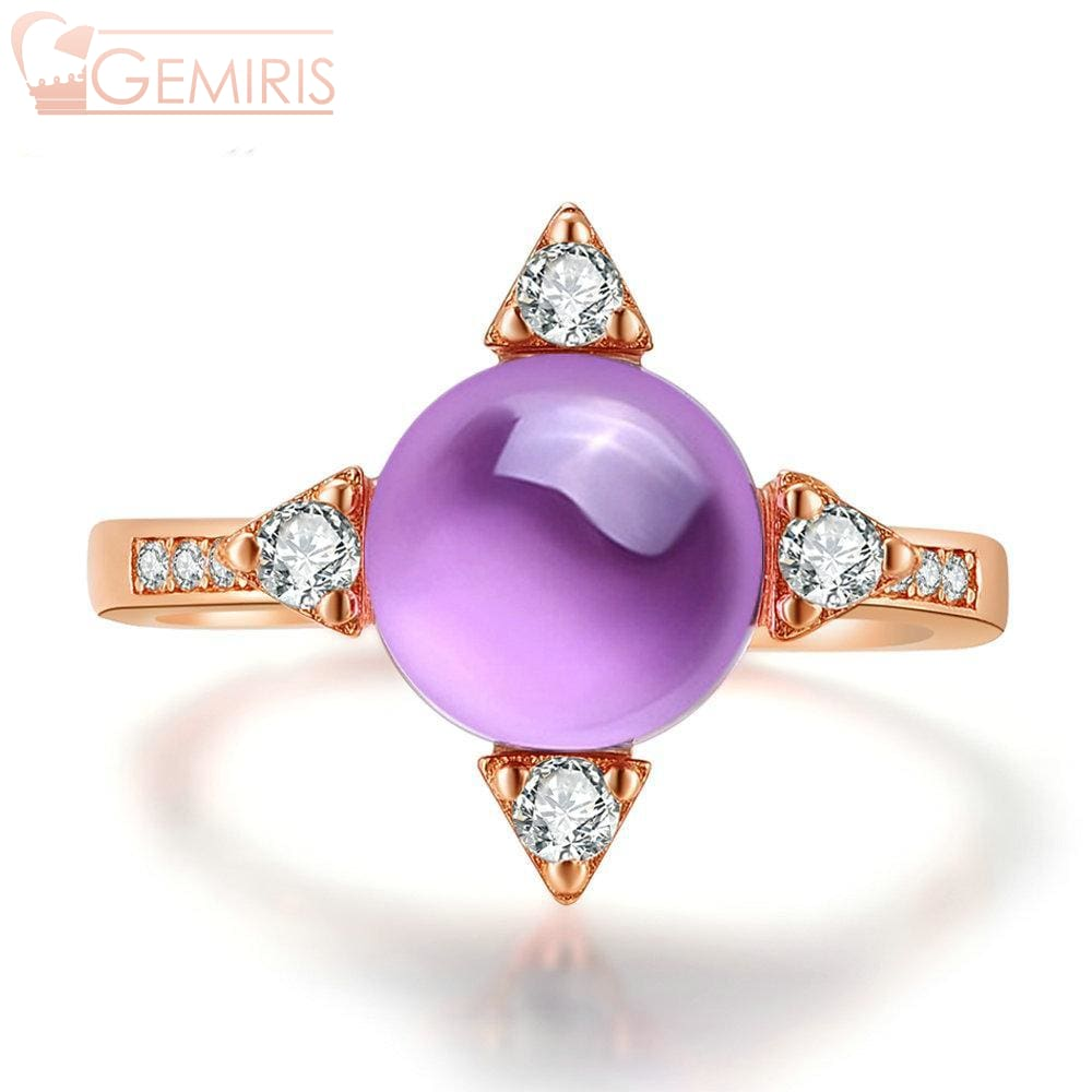 Propus Natural Amethyst Star Ring - Ring - $64.99