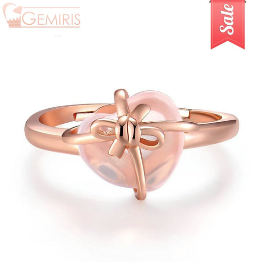 Syrma 100% Natural Rose Quartz Ring - Ring - $48.99