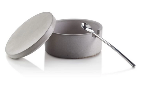 Concrete Salt Cellar w/ Spoon