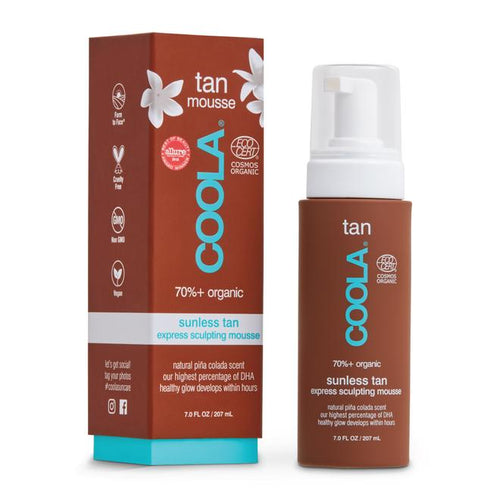 COOLA ORGANIC SUNLESS TAN EXPRESS SCULPTING MOUSSE