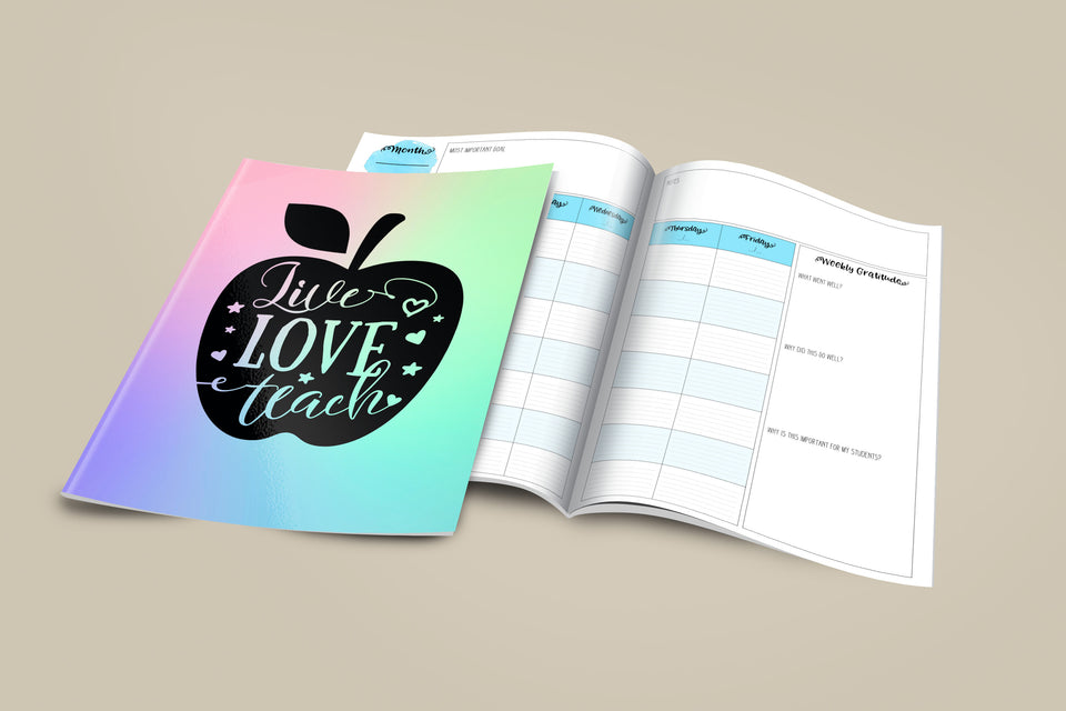 The Grateful Teacher Lesson Planner- available in English or Spanish