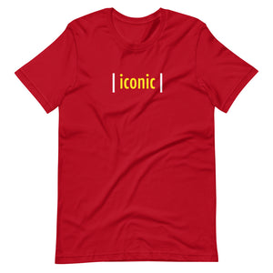 | iconic | Red Unisex T-Shirt