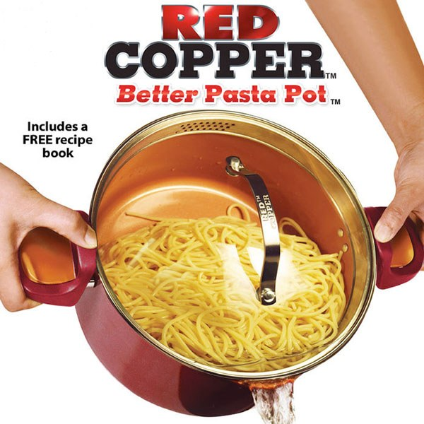 Red Copper Better Pasta Pot As Seen On Tv