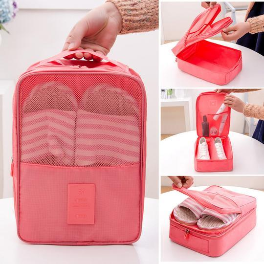Foldable, Water-resistant, Travel Shoe Bag