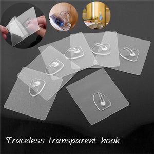 Reusable Transparent Hooks (10 Pieces)