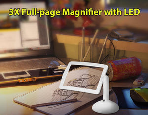 Large Screen 3X Magnifier with LED