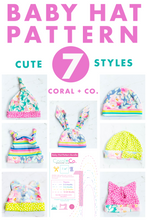 Load image into Gallery viewer, Baby Hat PFD Sewing Pattern - 7 Adorable Options!