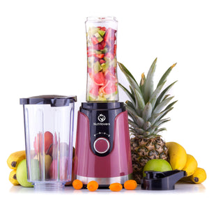 NUTRI-TWIST NO.1 Smoothie Maker 2-IN-1 DESIGN + 600ml Trinkflasche (BPA-frei)