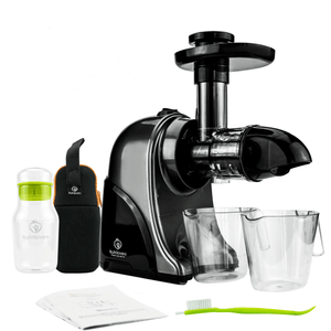 GREEN-PRESS Horizontaler Slow Juicer - Ideal für Grünes | BPA-frei