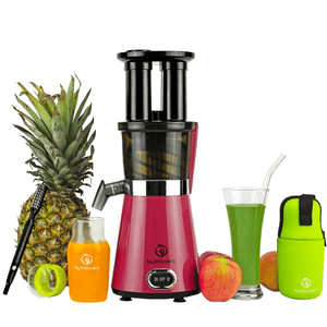 NUTRI-PRESS Slow Juicer für Einsteiger | BPA-Frei (Pink Pepper)
