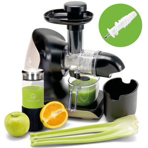 GREEN-PRESS KERAMIK Horizontaler Slow Juicer für Sellerie & Grünes | BPA-frei