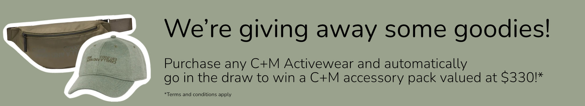 Giveaway at Styler, go in the draw to win a Camilla and Marc accessory pack simply by purchasing C+M activewear
