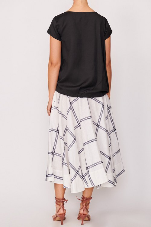 P O L / Anke Draped Tee / Black